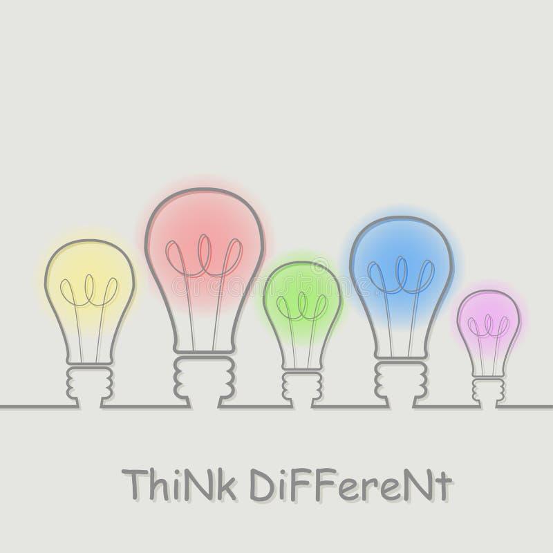 Denk verschillend stock foto