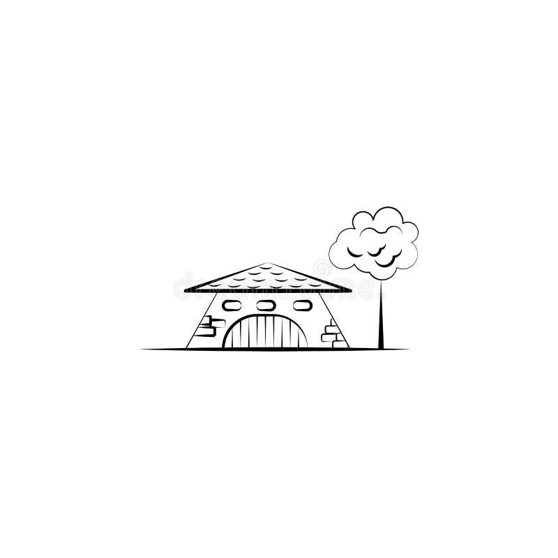 Denkbeeldig huis, boompictogram Element van hand getrokken Denkbeeldig huispictogram voor mobiele concept en webtoepassingen Hand stock illustratie