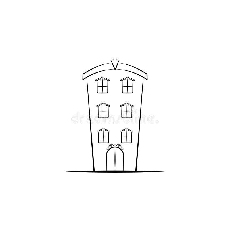 Denkbeeldig huispictogram Element van hand getrokken Denkbeeldig huispictogram voor mobiele concept en webtoepassingen Hand getro royalty-vrije illustratie