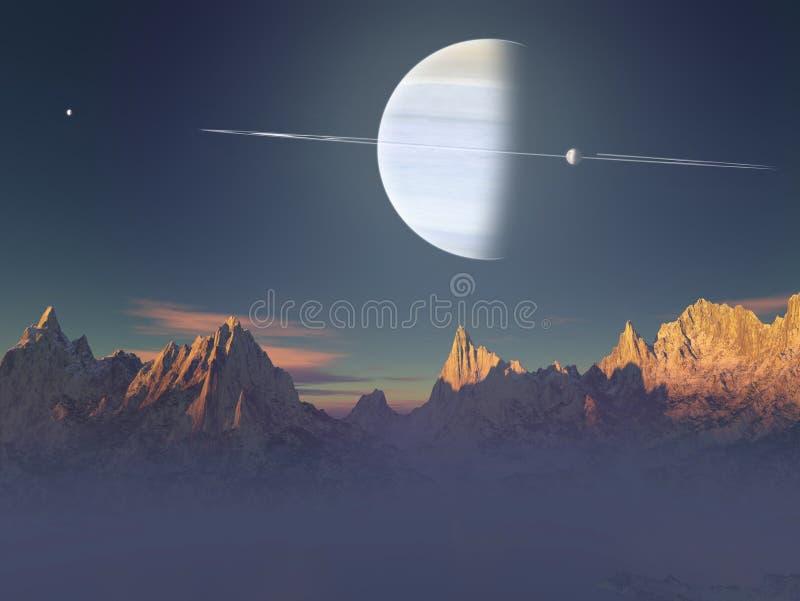 Denkbeeldig Landschap vector illustratie