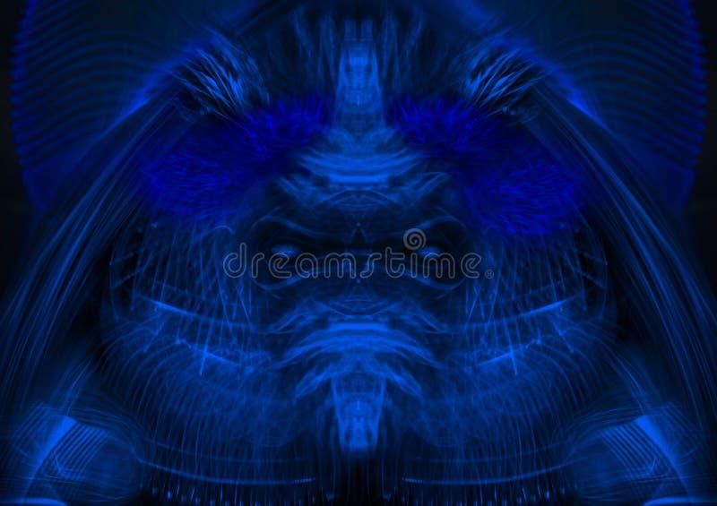 Denkbeeldig Vreemd gezichtsclose-up vector illustratie