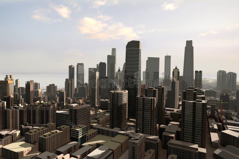 Denkbeeldige stad 24 stock foto's