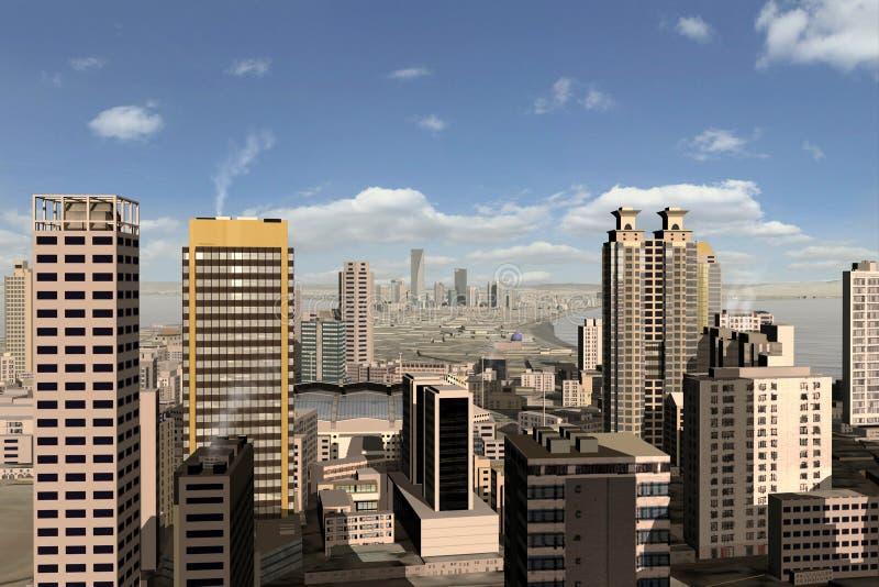 Denkbeeldige stad 25 royalty-vrije illustratie