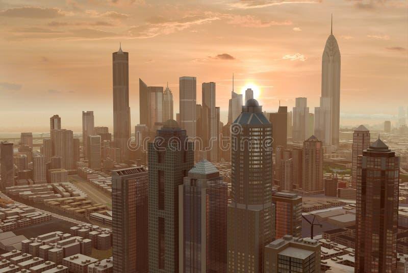 Denkbeeldige stad 55 royalty-vrije illustratie