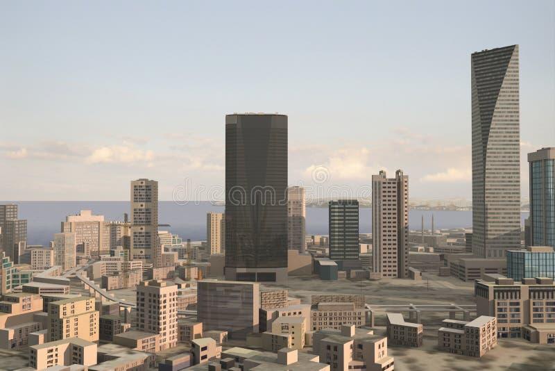 Denkbeeldige stad 89 stock illustratie
