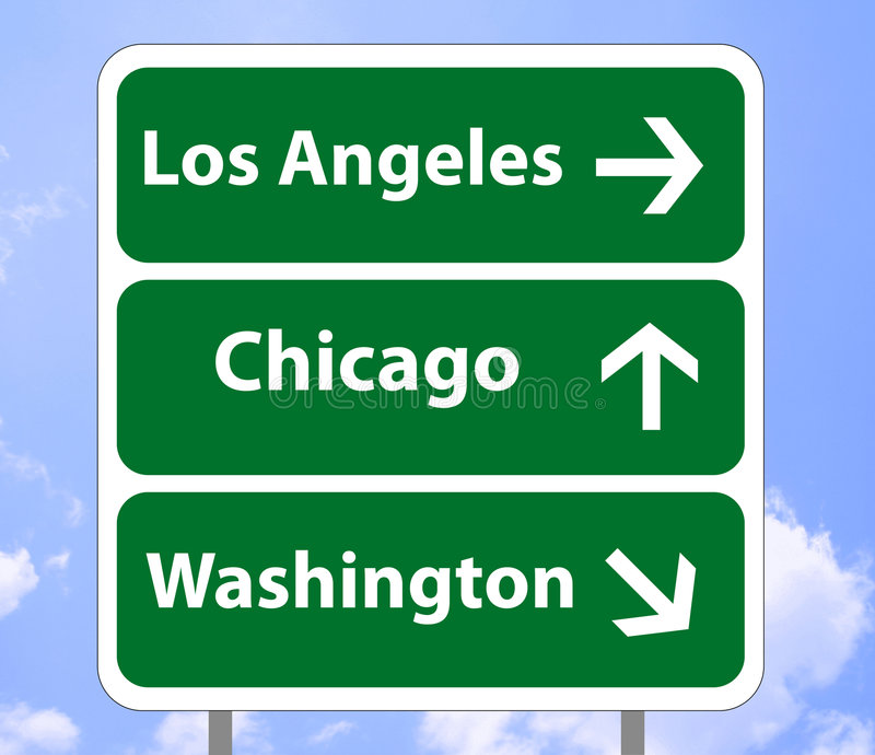 Denkbeeldige verkeersteken de V.S. royalty-vrije illustratie