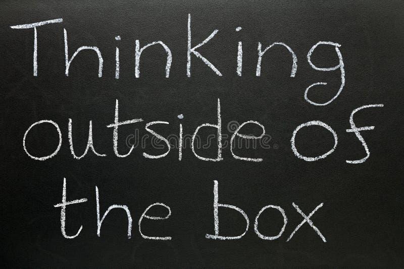 Denken außerhalb des Kastens lizenzfreie abbildung