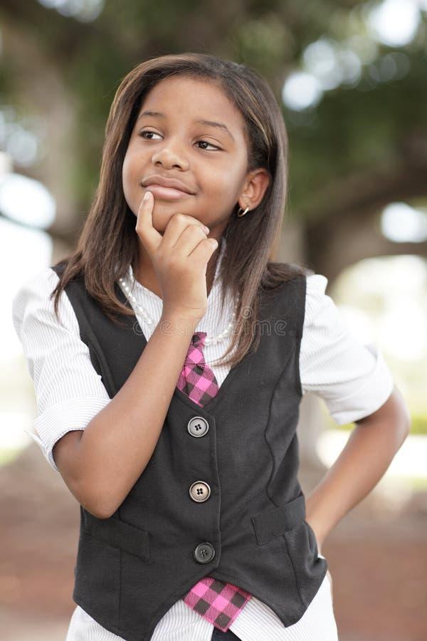 Denken des jungen Kindes stockfoto
