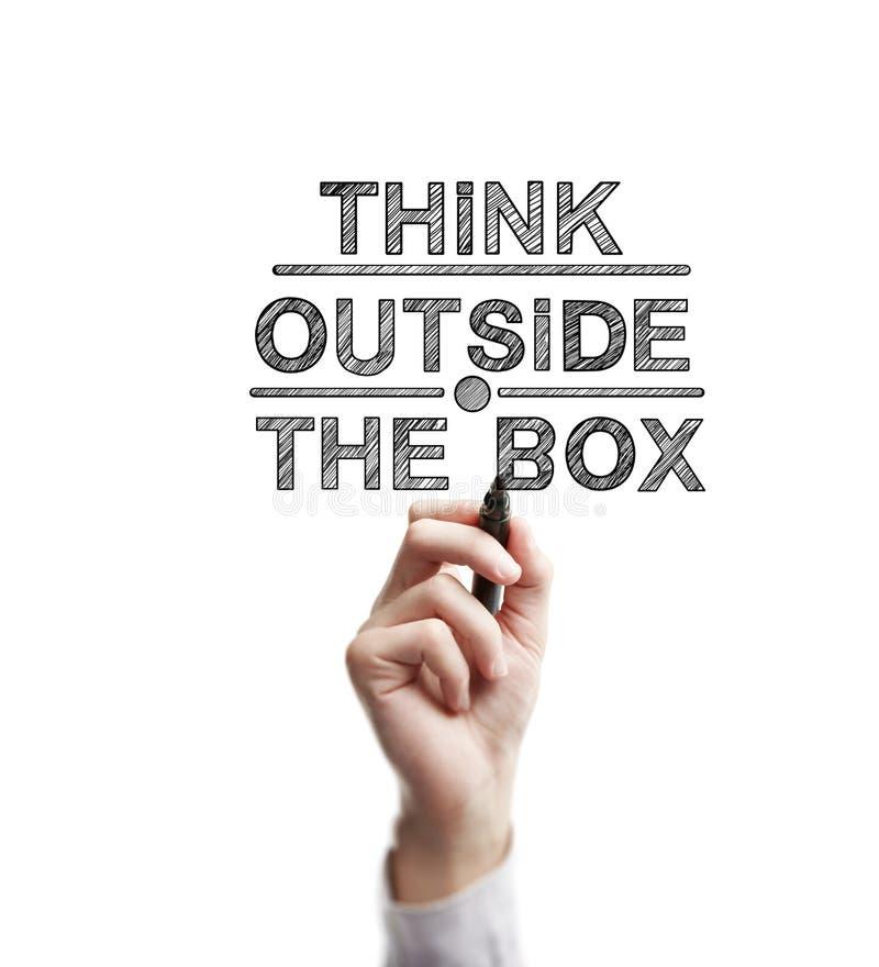 Denken Sie außerhalb des Kastens stockbilder