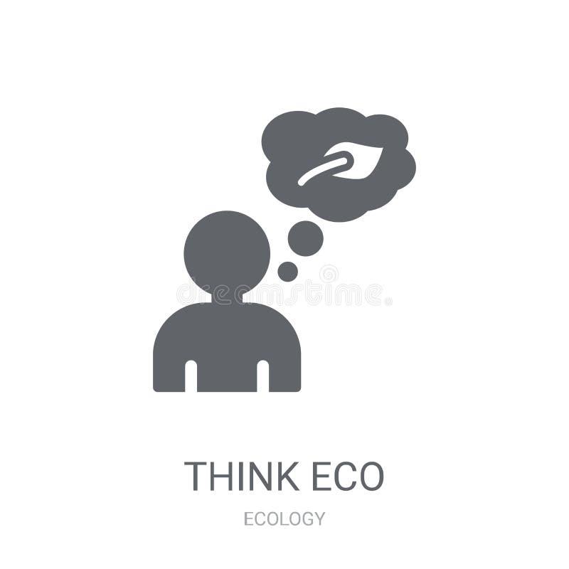 Denken Sie eco Ikone  vektor abbildung