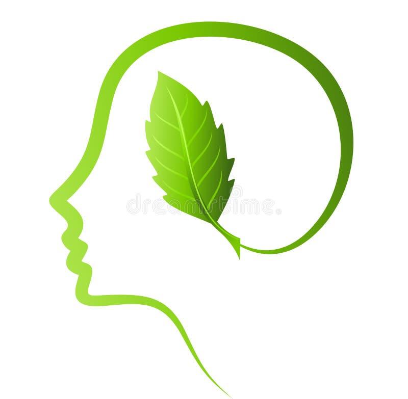 Denken Sie Grünabwehrerde lizenzfreie abbildung