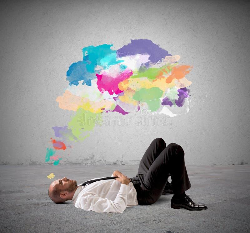 Denken Sie kreatives stockfoto