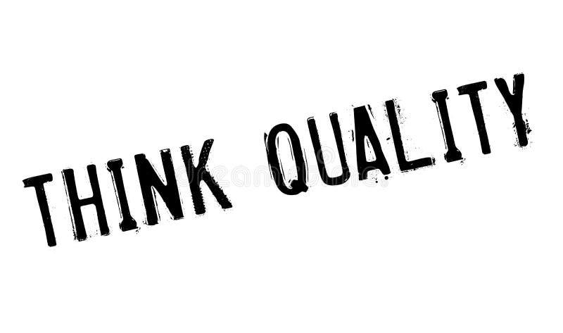 Denken Sie Qualitätsstempel lizenzfreies stockfoto