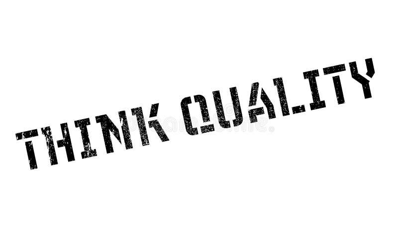 Denken Sie Qualitätsstempel lizenzfreie stockfotos