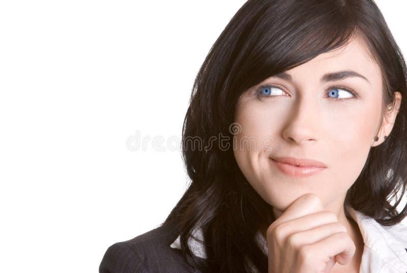 Denkende Frau stockbild
