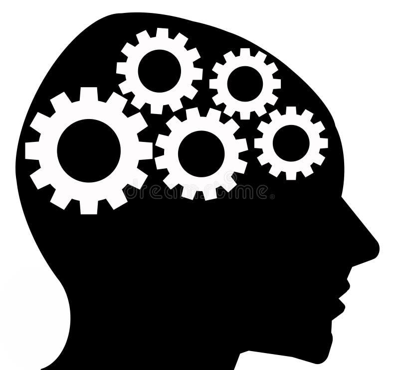 Denkende hersenen royalty-vrije illustratie