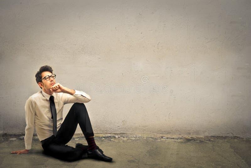 Denkende Junge lizenzfreies stockbild
