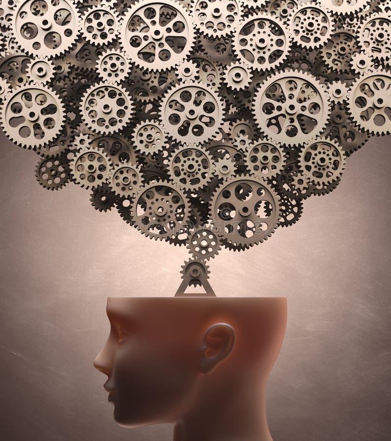 Denkende Maschine stockbilder