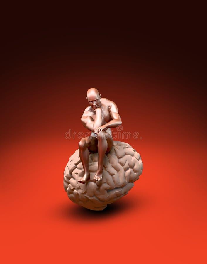 Denkende Mens vector illustratie