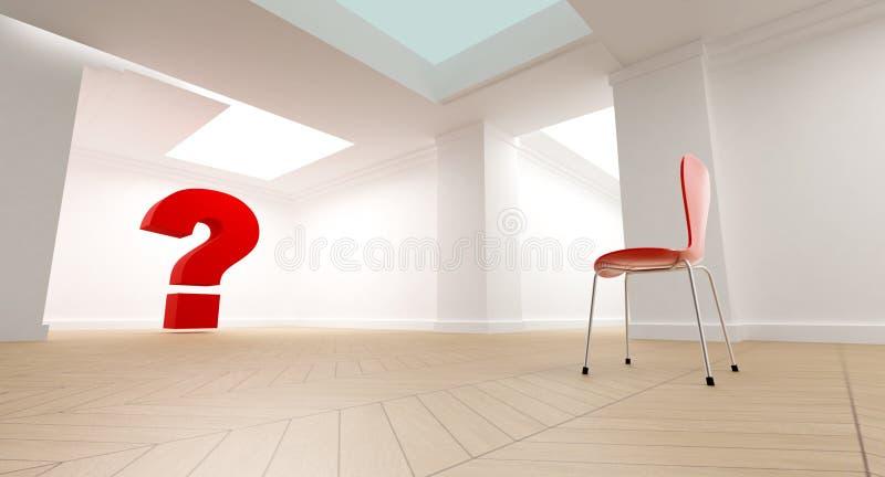 Denkende ruimte vector illustratie