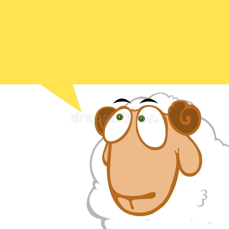 Denkende schapen royalty-vrije illustratie