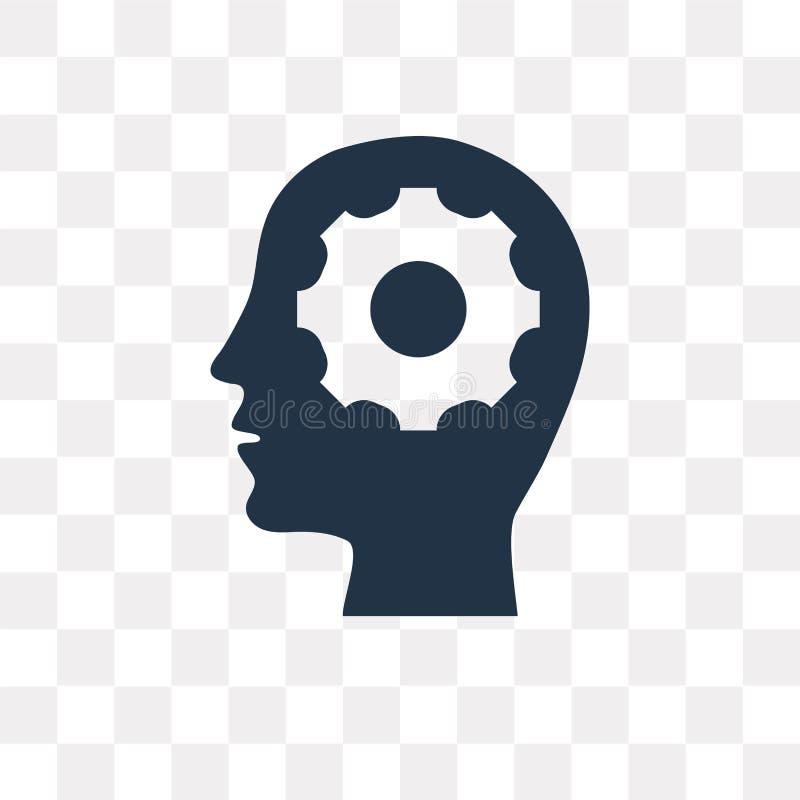 Denkende Vektorikone lokalisiert auf transparentem Hintergrund, Thinkin lizenzfreie abbildung