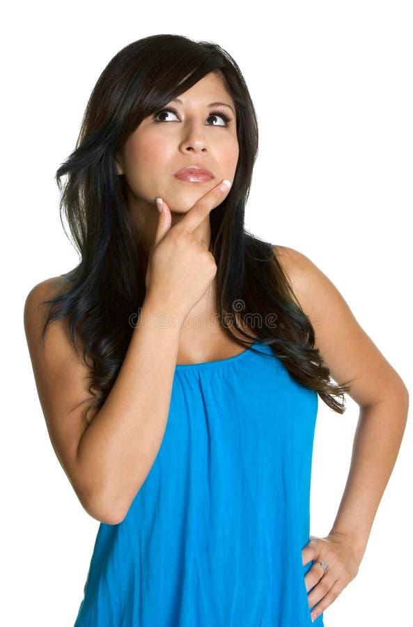 Denkende Vrouw stock foto's