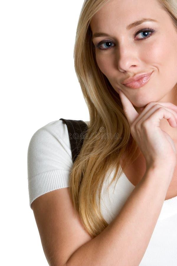 Denkende Vrouw stock afbeeldingen