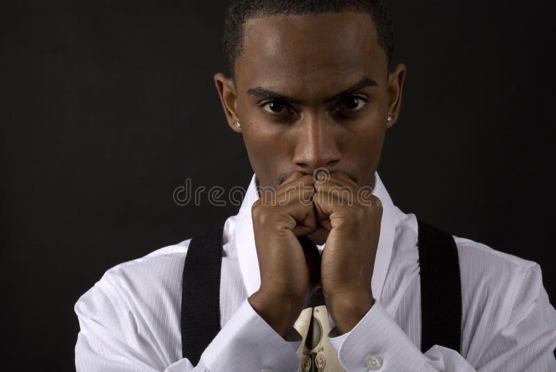 Denkende zakenman stock foto's
