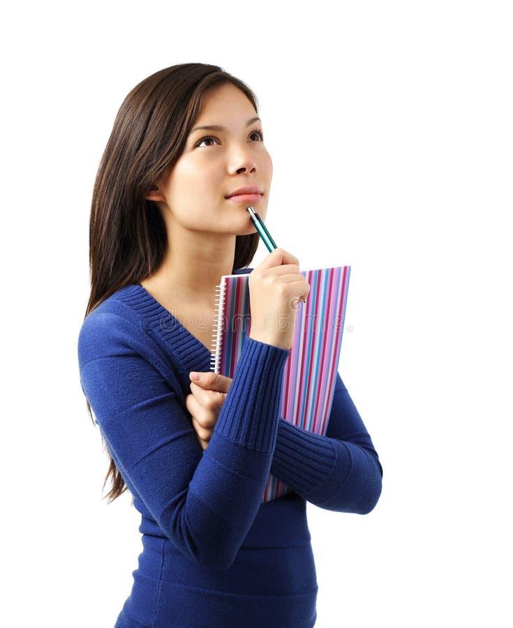 Denkender Hochschulstudent lizenzfreies stockfoto