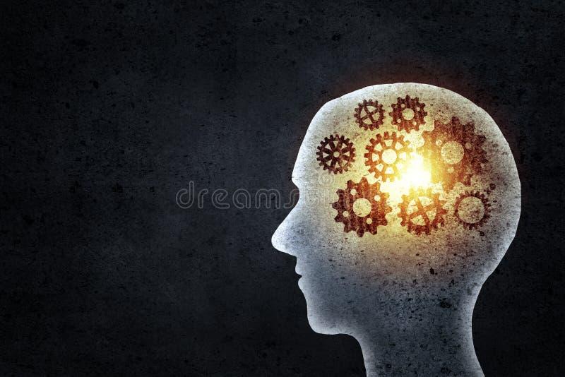 Denkender Mechanismus stockbilder