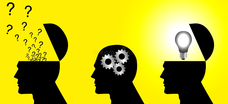Denkender Prozess lizenzfreie abbildung