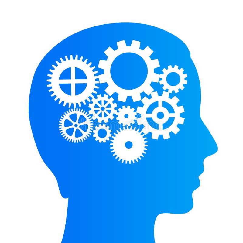 Denkendes Gehirn lizenzfreie abbildung