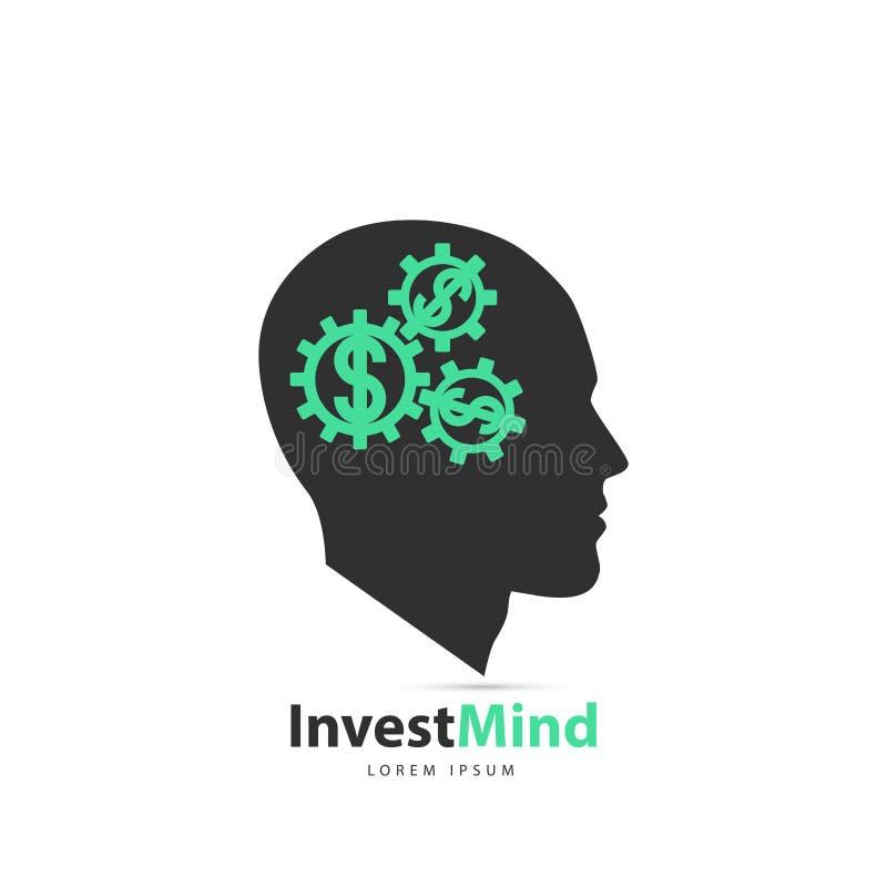 Denkendes Gehirn mit Rädern Getrennte Wiedergabe 3d Vektor lizenzfreie abbildung