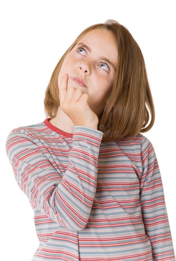 Denkendes Mädchen lizenzfreie stockfotos