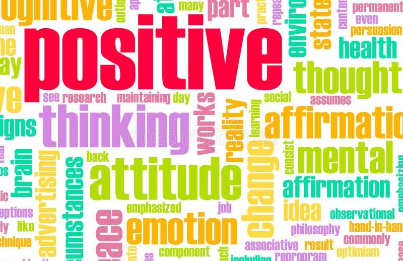 Denkendes Positiv stock abbildung