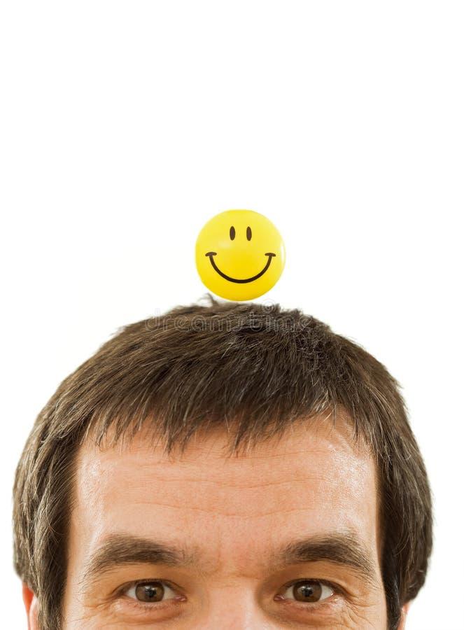 Denkendes Positiv Des Mannes Lizenzfreie Stockbilder