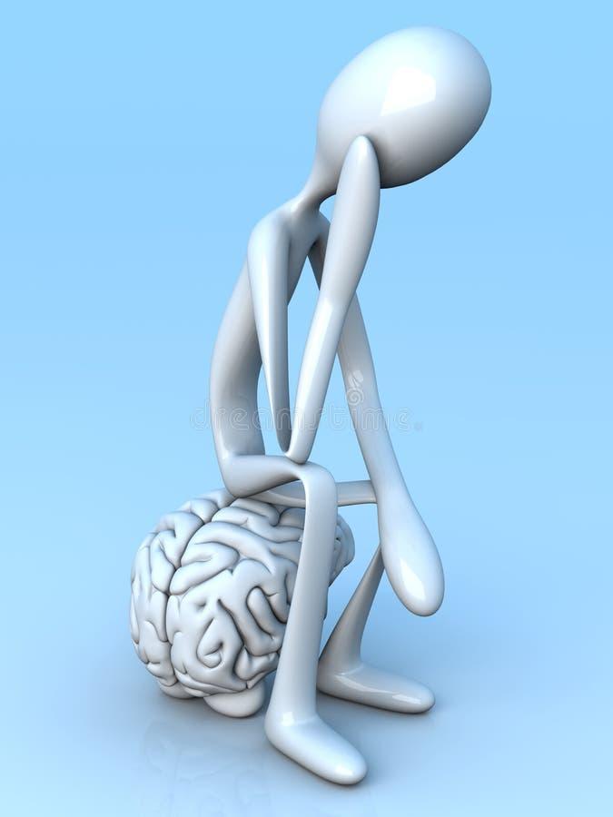 Denker vector illustratie