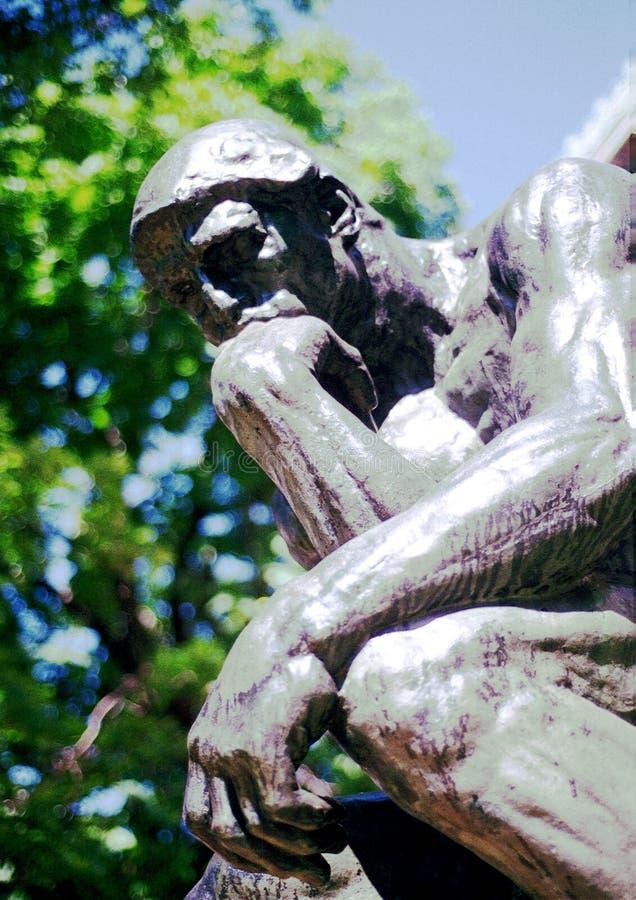 Denker - Rodin - NYC lizenzfreie stockfotos