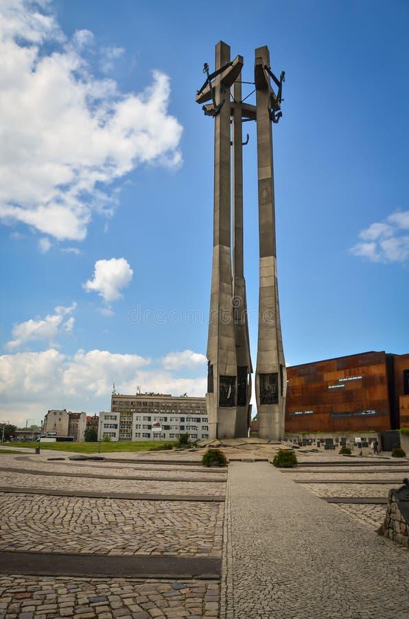 Denkmal der gefallenen Werftarbeitskräfte 1970 lizenzfreie stockbilder