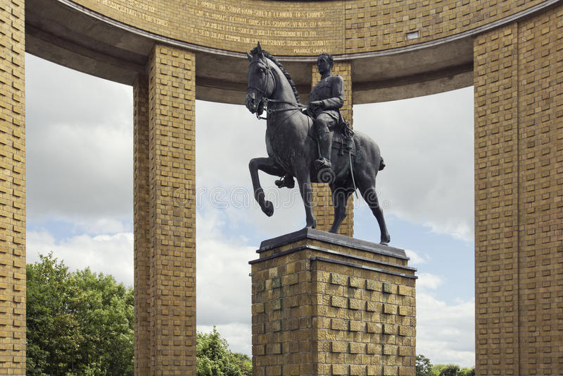 Denkmal des Königs Albert I stockbild