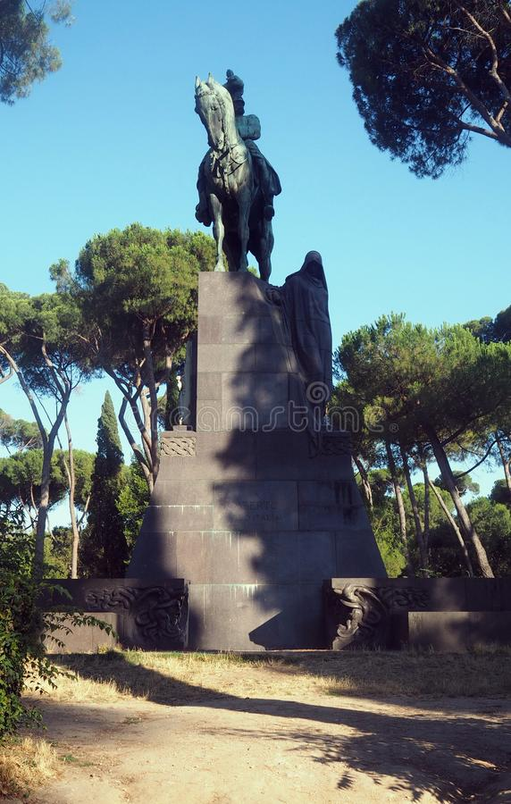 Denkmal für König Umberto-I von Italien in Rom lizenzfreies stockfoto