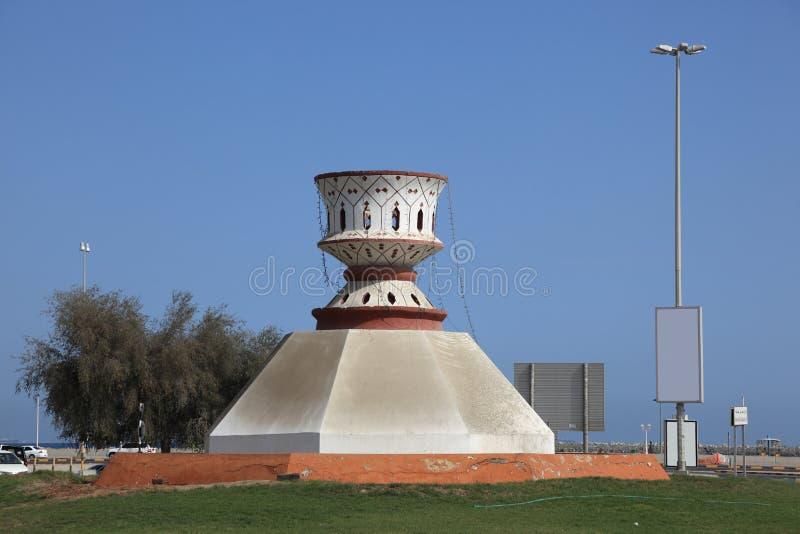Denkmal in Fujairah lizenzfreie stockfotos