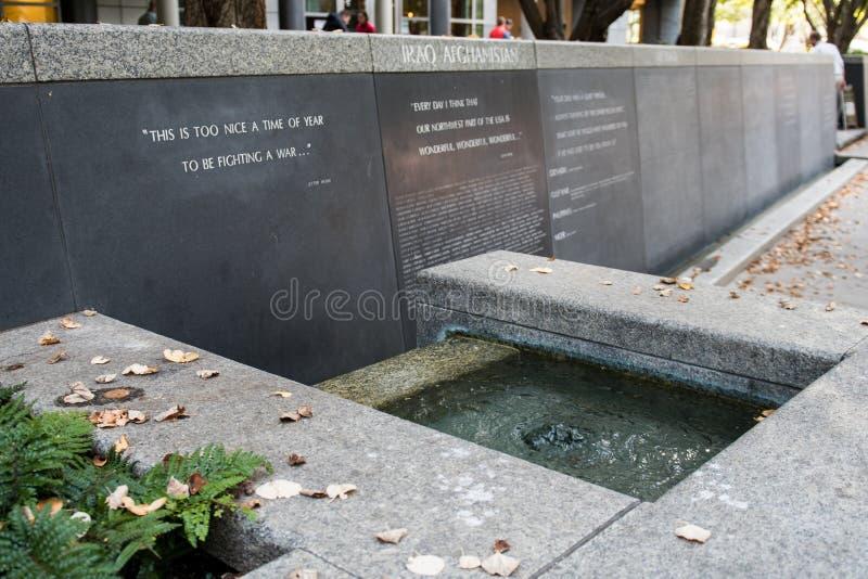 Denkmal am Garten der Erinnerung in Seattle stockfotografie