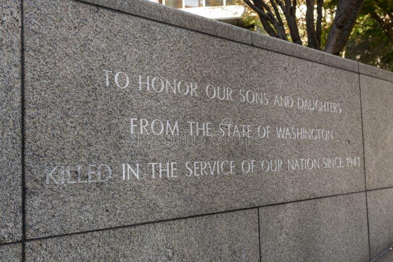 Denkmal am Garten der Erinnerung in Seattle, Washington, USA stockbild