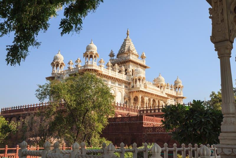 Denkmal Jaswant Thada in Jodhpur stockbilder