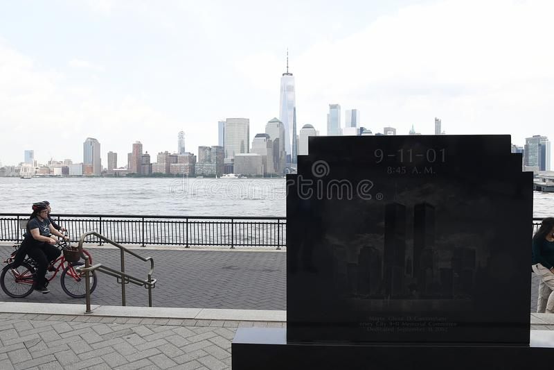 9/11/2001 DENKMAL IN JERSEY CITY NEUES JERSEN lizenzfreie stockfotografie