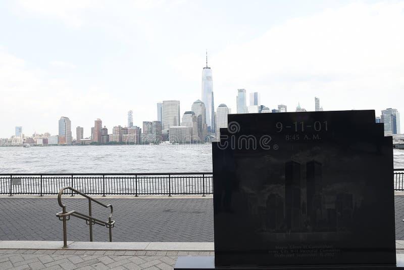 9/11/2001 DENKMAL IN JERSEY CITY NEUES JERSEN lizenzfreies stockfoto