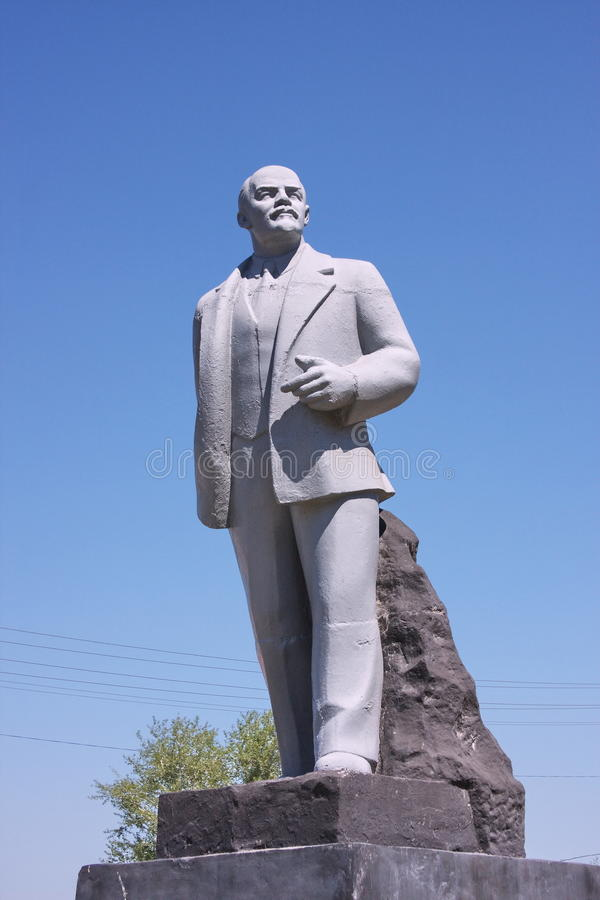 Denkmal Lenin auf einem Bereich stockbilder