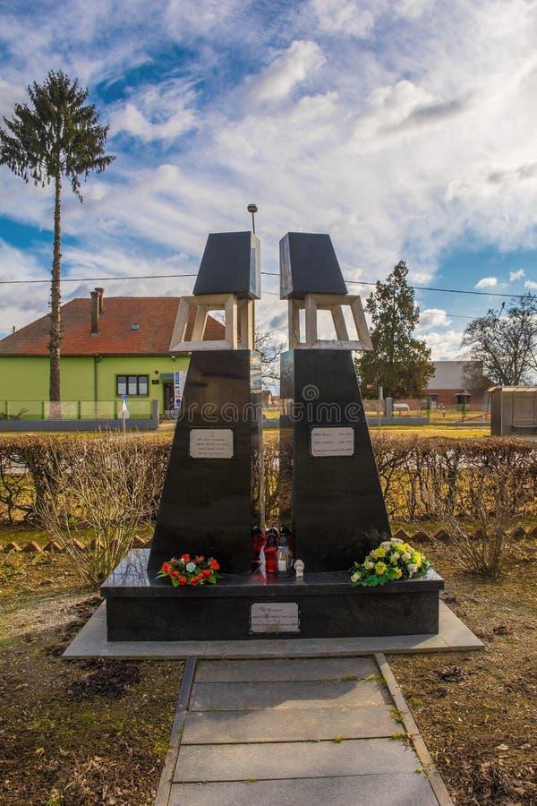 Denkmal Podravska Moslavina zum Vaterland-Krieg lizenzfreies stockfoto